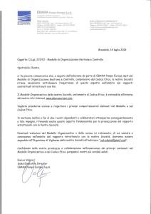 Codice etico per i partner commerciali Ebara spa